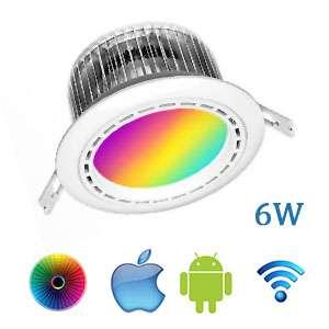 Stropné LED svietidlo Wifi RGBW 6W