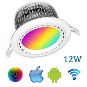 Stropné LED svietidlo Wifi RGBW 12W