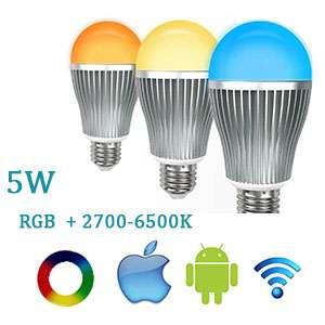 LED žiarovka Wifi RGBW E14-5W