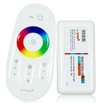 Set - riadiaca jednotka  a RF ovládač  pre  RGBW LED pásky