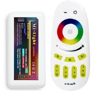 Set - riadiaca jednotka a RF ovládač pre RGB LED svietidlá