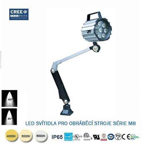 LED svietidlo pre obrábacie stroje M8-7W
