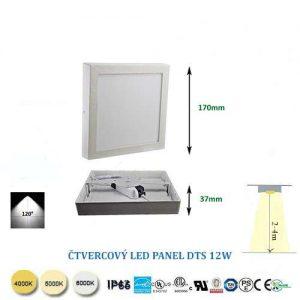 Štvorcový LED panel DTS12W