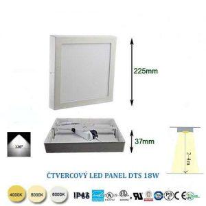 Štvorcový LED panel DTS18W