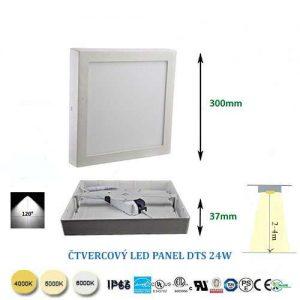 Štvorcový LED panel DTS 24W
