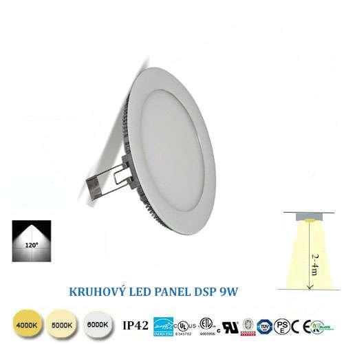 Kruhový LED panel 9W