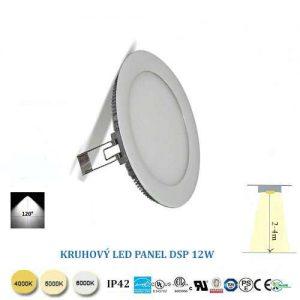 Kruhový LED panel 12W