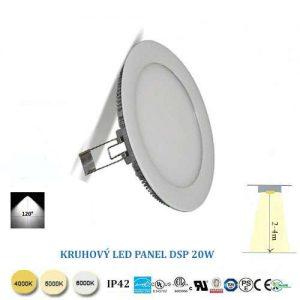 Kruhový LED panel 20W