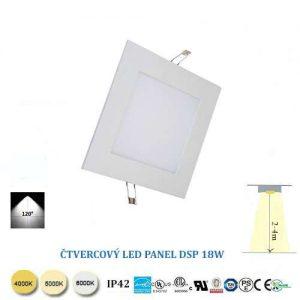 Štvorcový LED panel DSP18W