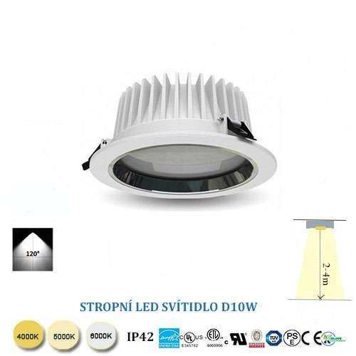 Stropné LED svietidlo 10W