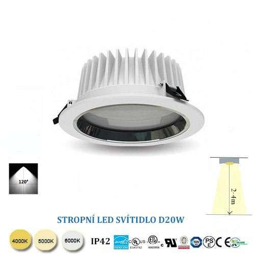 Stropné LED svietidlo D20W