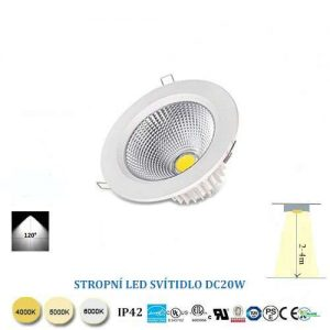 LED downlight DC20W