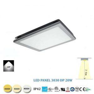 Stropný  LED panel 20W