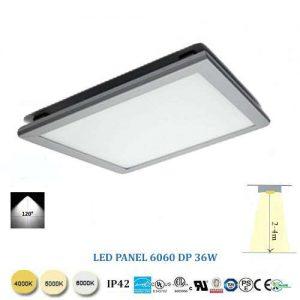 Stmievateľný stropný  LED panel 60x60 36W