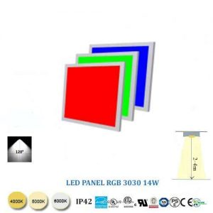Stropný RGB LED panel 3030-14W