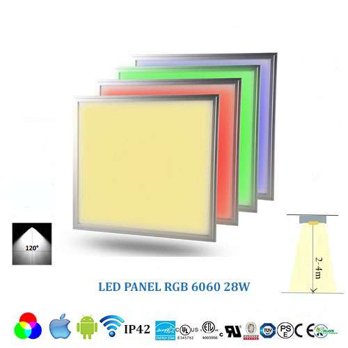 Stropý RGB LED panel 6060- 28W