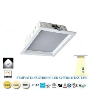 Stmievateľné stropné LED svietidlo 12W