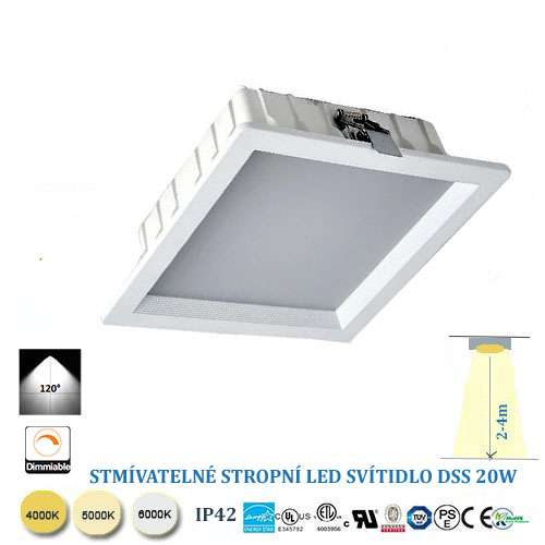 Stmievateľné stropné LED svietidlo 20W