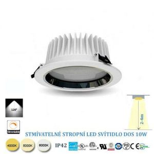 Stropné LED svietidlo 10W stmievateľné