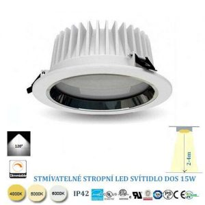 Stropné LED svietidlo 15W stmievateľné