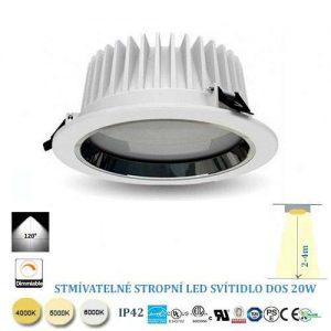 Stropné LED svietidlo 20W stmievateľné