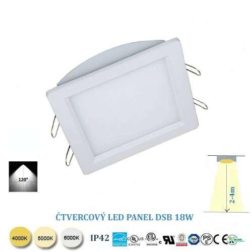 Štvorcový LED panel DSB18W