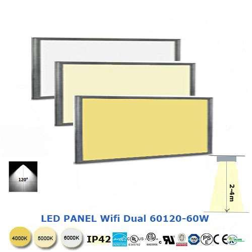 LED panel Wifi Dual 60x120- 60W