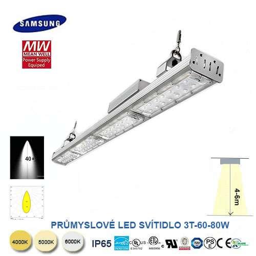 Lineárné LED svietidlo 3T-60-80W