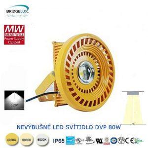 Nevýbušné LED svietidlo DVP 80W
