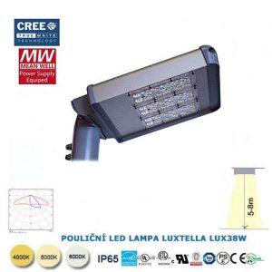 Pouličná LED lampa LUX38W