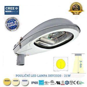 Pouličná LED lampa DEV-21W