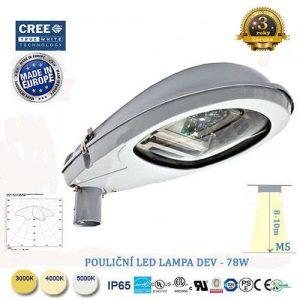 Pouličná LED lampa DEV-76W