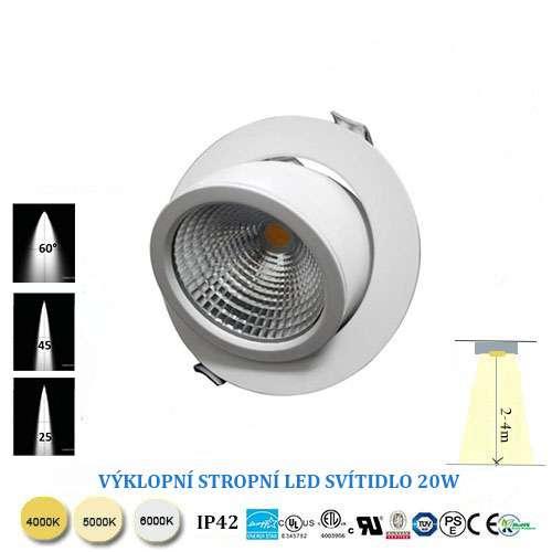 Výklopné LED svietidlo 20W