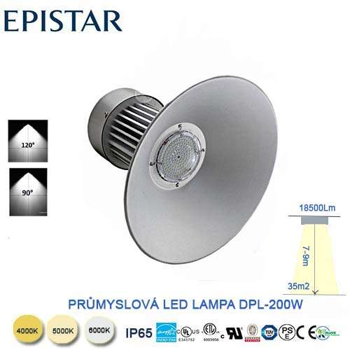 Priemyselná LED lampa 200W