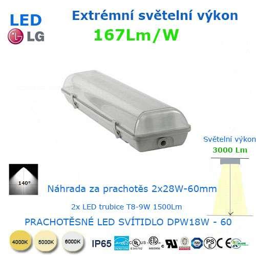 Prachotesné LED svietidlo DWP18-60