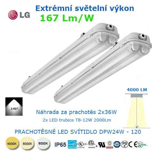 Prachotesné LED svietidlo DWP24-120