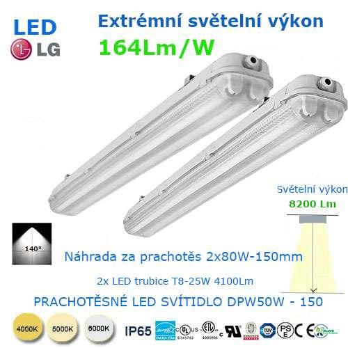 Prachotesné LED svietidlo DWP50-150