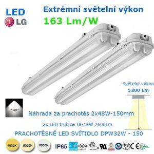 Prachotesné LED svietidlo DWP32-150