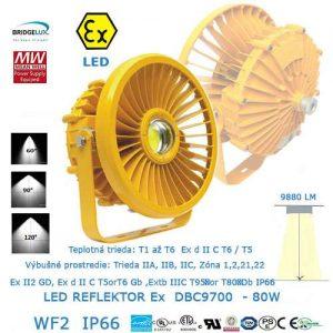 Nevýbušné LED svietidlo DBC9700-80W