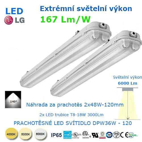 Prachotesné LED svietidlo DWP36-120