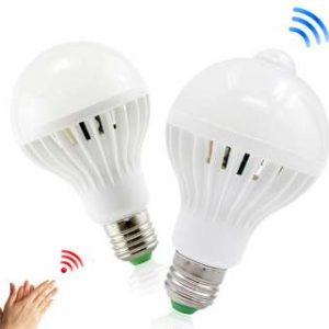 LED žiarovka E27-9W PIR senzorom