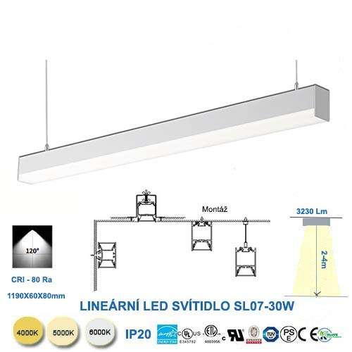 Lineárne LED svietidlo SL07-30W