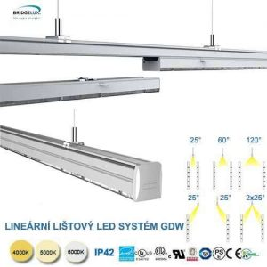 LED lineárný trunking systém  GDW