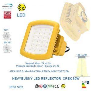 Nevýbušný LED reflektor  CREX-80W