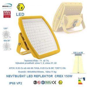 Nevýbušný LED reflektor  CREX-150W