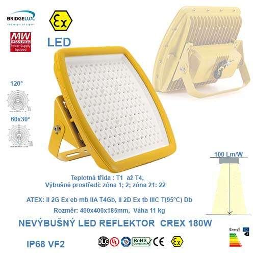 Nevýbušný LED reflektor  CREX-180W