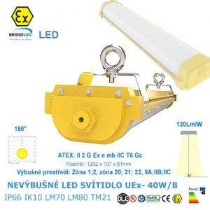 Nevýbušné LED svietidlo UEx-40W-B