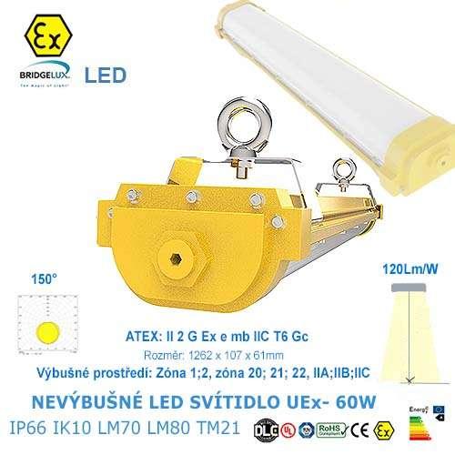 Nevýbušné LED svietidlo UEx-60W