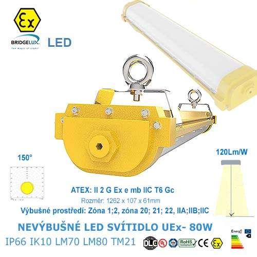 Nevýbušné LED svietidlo UEx-80W