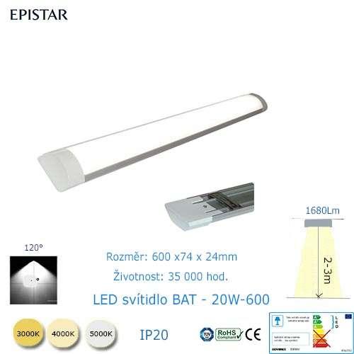 LED svietidlo BAT-20W-600